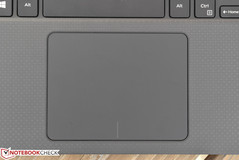 The large touchpad is responsive and accurate.