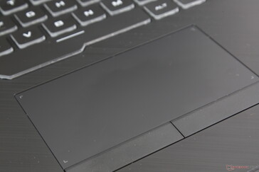One of the more comfortable clickpads and mouse keys we've used on a 17.3-inch gaming laptop
