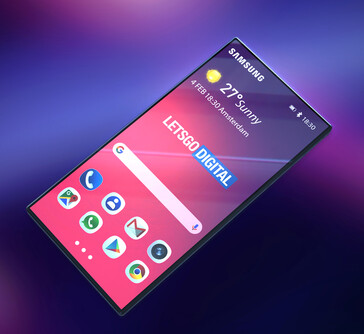 Render of what the Samsung Galaxy F could look like. (Source: LetsGoDigital)