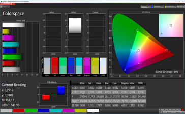 CalMan color space (sRGB color space), display mode: Standard