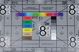 Shot of the test chart