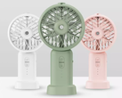 The Xiaomi DOCO ultrasonic handheld misting fan comes in three colors. (Image source: Youpin)