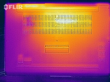 Heat map of the bottom of the device (stress test)