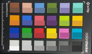 ColorChecker: The reference color is displayed in the bottom half of each patch.