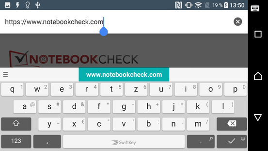 Keyboard, landscape mode