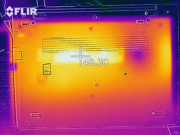 Thermal image under load - Bottom