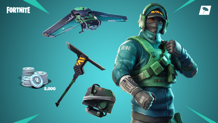 A look at the male Fortnite Counterattack bundle (Image source: NVIDIA)
