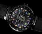The 1.2-inch AMOLED display integrated in the Tambour Horizon has outstanding contrast. (Source: Louis Vuitton)