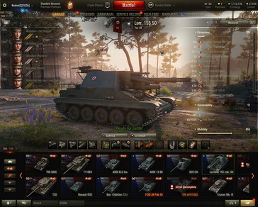 World of Tanks 1.0 new garage