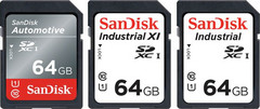The Automotive and Industrial cards work safely up to 185 degrees F. (Source: SanDisk)