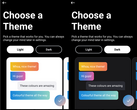 Traditional light mode with color customization (left) and new dark mode with color customization (right). (Source: Own)