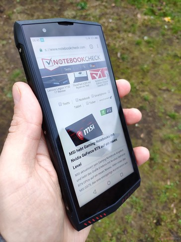 Using the Poptel P60 outside