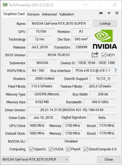 NVIDIA GeForce RTX 2070 SUPER Desktop GPU Review: In touching