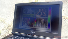 Outdoors under sunlight