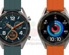 A leaked render of the forthcoming Huawei Watch GT Active. (Source: WinFuture)