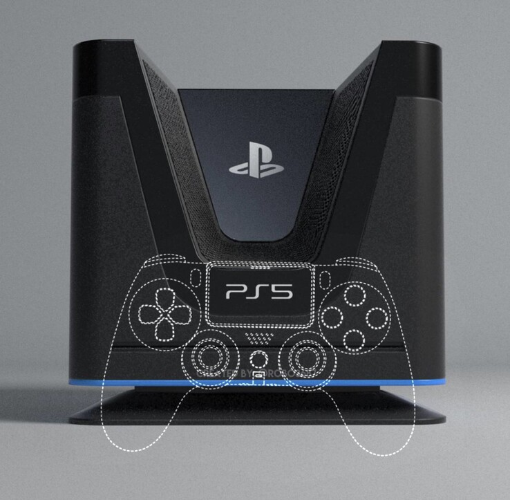 PS5 concept compared to DualShock 5. (Image source: @robo3687)