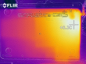 Temperature development idle (bottom)