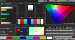 CalMAN: DCI P3 colour space – Natural colour mode