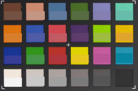 ColorChecker: Original colors are displayed in the lower half of each patch.
