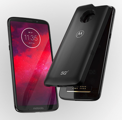 The 5G Moto Mod will give last year's 4G Moto Z3 ultra-fast 5G cellular capabilities. (Source: Motorola)