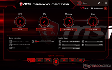 Dragon Center System idle
