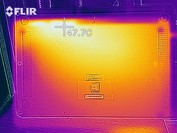 Heat map of the bottom case under load