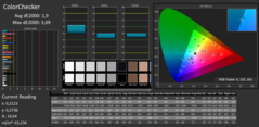CalMAN ColorChecker (post calibration)