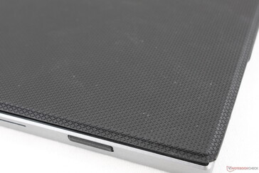 Textured protective folio case hides fingerprints well