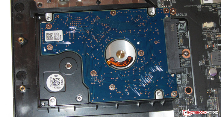 The HDD can be replaced.