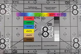 Picture taken of the test chart