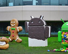 Various Google Android statues
