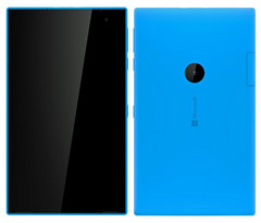 Inital renders of 'Mercury' revealed that the device could be a large Lumia variant. (Source: MSPoweruser)