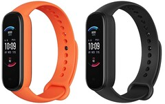 Amazon customers can pre-order the Amazfit Band 5 in orange or black. (Image source: Amazon/Huami - edited)