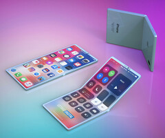 No, it's not Bendgate 3.0 - it's a render of a foldable iPhone. (Source: LetsGoDigital)