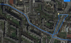 GPS test – Nokia 1: Route across a bridge