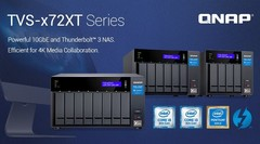 QNAP TVS-x72XT NAS with Thunderbolt 3 and 8th generation Intel processors (Source: QNAP Systems)