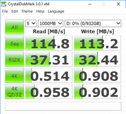 CrystalDiskMark (Secondary HDD)