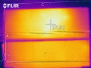 Heat map, idle (rear)