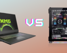 Laptop vs desktop PC.