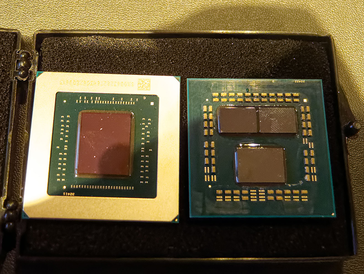 Navi left and Ryzen right. (Image source: MyNavi)