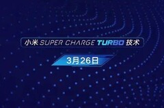Xiaomi Super Charge Turbo technology teaser (Source: Lin Bin on Weibo)