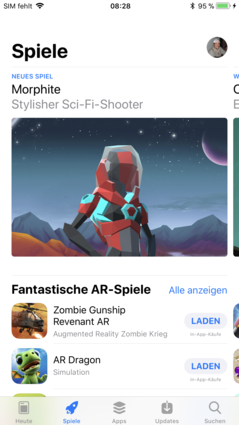 App Store with a new design