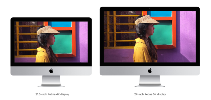 The iMac (Early 2019) looks exactly the same as the iMac (Late 2012). (Source: Apple)