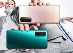 Huawei P Smart 2021: Besides black, also available in the colors Crush Green and Blush Gold