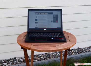 The MSI GE73VR 7RF Raider in the shade