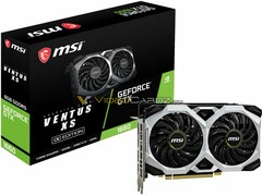 The MSI Ventus OC Edition of the Nvidia GeForce GTX 1660 card. (Source: VideoCardz)