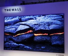 The module-based MicroLED TVs can have 8K or even higher resolutions. (Source: Samsung)