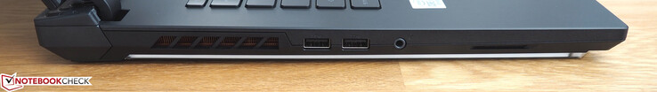 Left side: 2x USB-A 3.0, 3.5 mm jack