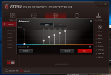 CPU and GPU fan control settings