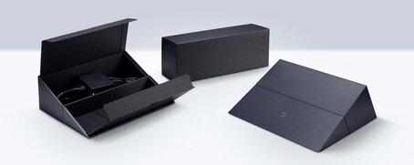The box for the power adapter can double as a laptop stand (source: Asus)